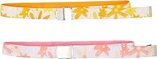 OmniReselling 女童 S07F6T1239 粉色和橙色花卉腰带套装,未*