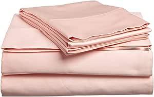 COTTONWALAS #1 *低价格 - 超大销售真正奢华纯色图案埃及长绒棉 600 支 4 件套床单套件,袋深 35.56-45.72 cm(尺寸,颜色) 桃红色 King