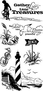 """Inkadinkado Clear Stamps 4""""X8""""-Down By The Seaside"""