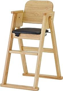 木制折叠高脚椅 简约 [対象] 7ヶ月 ~ 自然色
