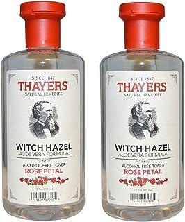 Thayers - 玫瑰花瓣巫师与芦荟无*精爽肤水 - 12 盎司 (2 包)