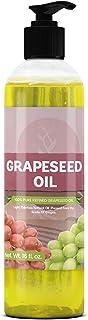 葡萄籽油纯*成分,精制,无异味,素食,犹太洁,不含麸质,非转*,皮肤和*护理,透明瓶带推开盖 16 液体盎司