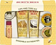 Burt's Bees Tips and Toes礼品套装, 每件礼盒包含6件旅行装产品 - 2件护手霜, 护足霜, 指缘角质膏, 护手膏和润唇膏