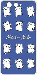 みっちり 猫透明印花 みっちり 猫白色系列手机壳  みっちりねこホワイトシリーズJ 21_ TONE m17
