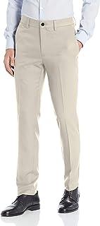 Haggar 男士 Cool 18 Pro 修身优质弹性无褶长裤,