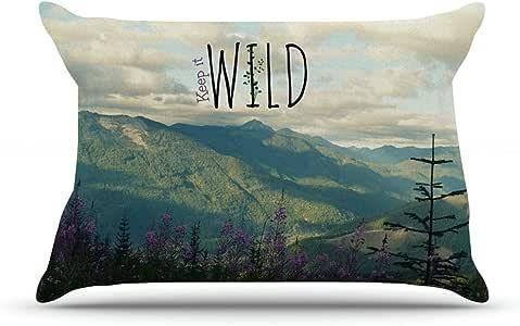 Kess InHouse Robin Dickinson Keep it Wild 30 x 20 英寸枕套,标准