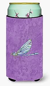 Dragonfly on Purple Tall Boy Beverage Insulator Beverage Insulator Hugger