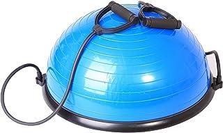 Sportplus 带阻力带运动球 - 62 厘米平衡球训练器 - 可在两面使用 - 非常适合力量和平衡训练