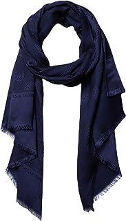 Karl Lagefeld Paris 女士 Karl Lagerfeld 巴黎玫瑰花夹棉人造丝羊绒围巾