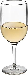 Drinique *杯 12 盎司 | 不易破碎,不含 BPA 优质三苯甲烷塑料洗碗机*杯,美国制造 透明 12 oz (Set of 4) VIN-WG-CLR-4
