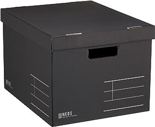 Kokuyo 国誉储物盒 Neos Lサイズ(フタ付き) 黑