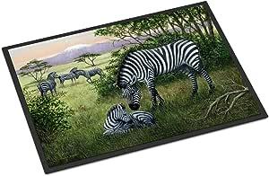 Caroline's Treasures BDBA0385JMAT Zebras in the Field 婴儿室内或室外垫,60.96 厘米(高)x 91.44 厘米(宽),多色
