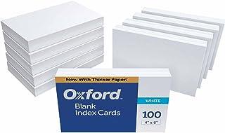 Oxford 空白索引卡,7.62 x 12.7 cm,白色,100 张装 空白 4 x 6, 1000 cards 白色