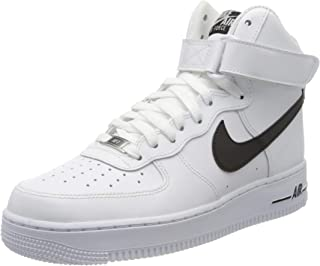 Nike 耐克 Air Force 1 High '07 An20 男士篮球鞋,黑色/白色