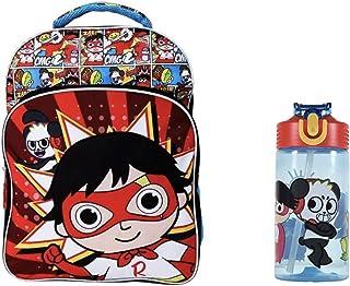 Ryans World Backpack Super Cool 16 英寸蓝色/红色 - 水瓶套装