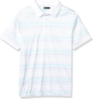 PGA TOUR 男式短袖渐变条纹 Polo 衫