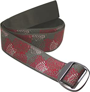 """Bison Designs Women's Reversible to Solid Color Subtle Clinch Belt, Aster, Small/34"""""""