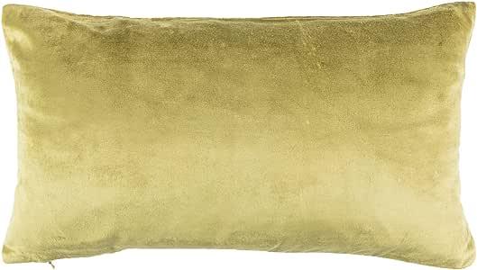 Filocolore fdc271 靠垫套,天鹅绒,橄榄色,27 x 17 x 2.25 厘米