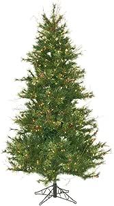 Vickerman 65 英尺超薄混合乡村松木人造圣诞树 400 个透明灯