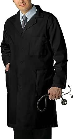 Adar 通用 99.06 厘米磨砂实验室外套,带内袋 黑色 Size 44