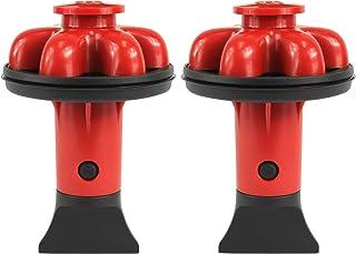 DANCO (DG2-P) Dispose Genie 2.0 厨房水槽过滤器,塞子和防溅板,带食品刮刀 红色 2 件装 10923A