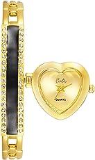 Barbie 芭比 美国品牌 公主系列 石英女士手表 个性桃心表盘手镯表 W505PTAI68L(供应商直送)