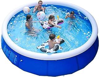 NOVELL 家庭泳池在地面上适合后院/室外,便携式充气顶环泳池,适合儿童、成人和婴儿(10 英尺 x 30 英寸)
