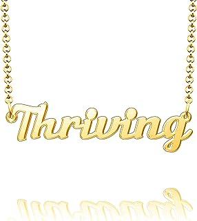 CandyCharms 纯银吊坠定制板个性化姓名项链送给女士情侣礼物
