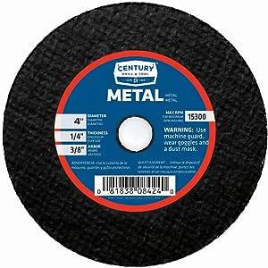 Century 钻孔和工具金属磨料切割和磨料轮 4-inch by 1/4-inch 8424