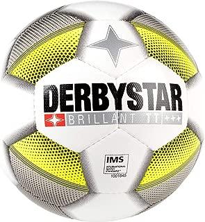 Derbystar Brilliant 中性款青少年足球 白色/灰色/黄色,5