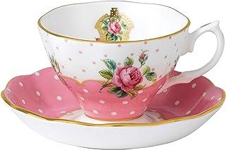 Royal Albert New Country Roses Vintage 茶杯和茶碟,白色