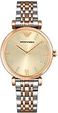 ARMANI 阿玛尼 意大利品牌 优雅简约时尚女士腕表休闲指针石英女表 AR1840