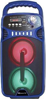 Iq Sound(r) Iq-3244djbt- 蓝蓝牙 (r) 便携式可充电扬声器(蓝色) 蓝色 15.10in. x 7.50in. x 6.90in.