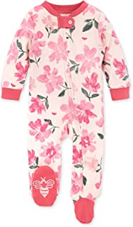 Burt's Bees Baby 婴儿睡衣 NB-9M 连体衣 带拉链连脚睡衣 植物园 3-6个月