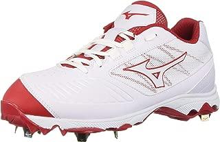 Mizuno 女式 9-Spike 高级拖鞋 4 低金属垒球鞋钉鞋