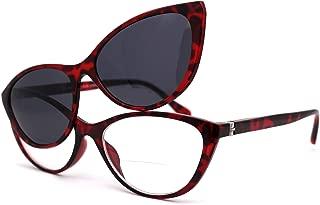Cateye 磁性夹式偏光太阳镜双焦阅读眼镜上