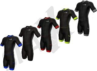 Sparx 男士铁人三项比赛服 | 短袖 Aero 铁人三项套装 | 男式铁人三项西装 | 铁人三项比赛服 | 紧身衣 | Trisuit | Swim-Bike-Run