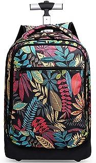 儿童滚轮背包,儿童手推车包,学校旅行笔记本电脑书多功能轮背包行李箱 H 49x35x24cm