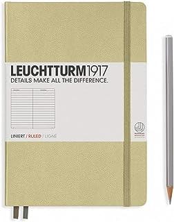 LEUCHTTURM1917 灯塔中开横格笔记本沙色硬封皮(A5)