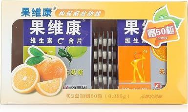 果维康维生素C含片(鲜橙+青苹)0.790g*60片*2盒促销装赠维生素C含片50片 (口味随机)