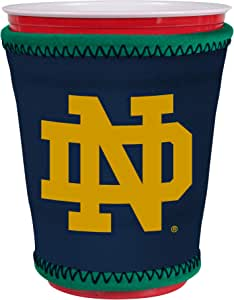 Kolder NCAA 标志 Coolie Kup 座套 套管 塑料杯,品脱玻璃,咖啡杯,冰淇淋等 - 氯丁橡胶和无底部 Notre Dame Cup
