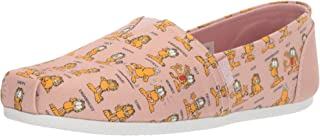 Skechers Bobs Plush Monday Moods 女士拖鞋。 Garfield 一脚蹬芭蕾平底鞋