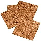 Quartet 软木瓷砖,30.48cm x 30.48cm,软木板,公告板,迷你墙,4 包 (102) 4 件装 4 Pack 天然