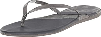 Under Armour 女式 UA Lakeshore DR T 引线/黑色/金属青灰色凉鞋 7 B (M)