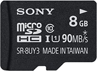 Sony 8GB MicroSDHC Secure Digital Flash Memory Card - PERFORMANCE Series Class 10 UHS-1 (Read 40MB/s) - SR8UYA with Adapter