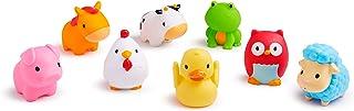 【自营】 美国 Munchkin 满趣健 戏水喷水洗澡玩具 超萌趣味农场小动物8只装 小巧易握 MK43882