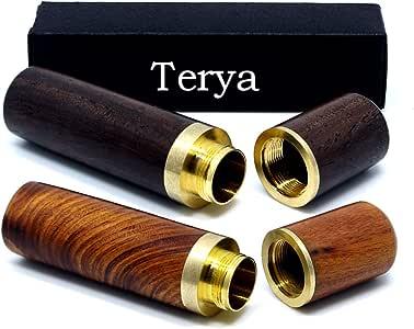 经典木质牙签架 Terya 牙签架分配器 Light brown & Dark brown unknown