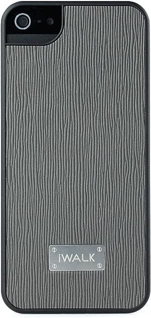 iWALK 爱沃可 BCL001i5 皮革保护壳 适用于iPhone 5/5S/SE (细牙签纹+黑色保护壳)