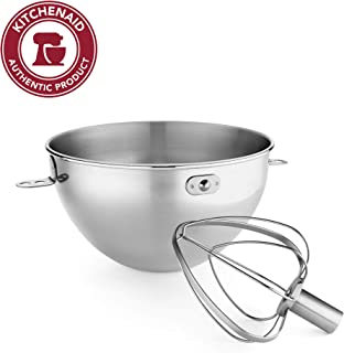 KitchenAid 凱膳怡 KN3CW 3夸脫(約2.8L)不銹鋼碗&攪拌頭 Bowl-Lift 型號KV25G和KP26M1X