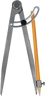 Anseal 专业木工指南针带锁翼和铅笔架,12 英寸大号指南针分隔卡钳,用于几何、绘图、绘图和绘图。 12英寸 1 件